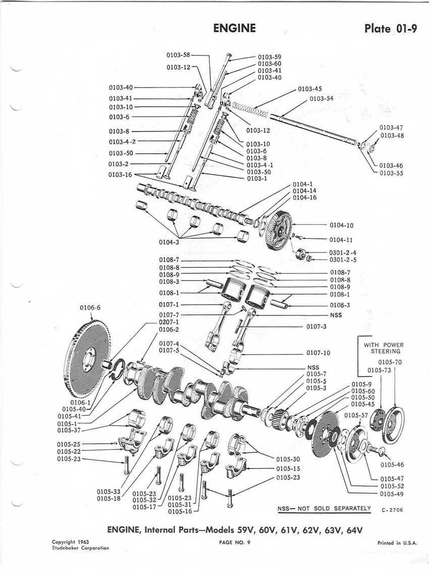 Bob Johnstones Studebaker Resource Website Chassis Engine Diagrams Manual 1959 1964 Pages 1 45